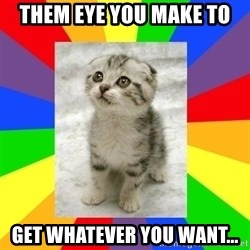 Cute Kitten - them eye you make to Get whatever you want...