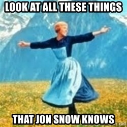 look at all these things - Look at all these things That Jon Snow knows