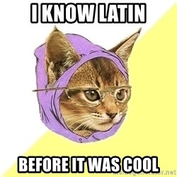 Hipster Cat - I know latin Before it was cool