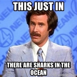 Anchorman Will Ferrell - This just in There are sharks in the ocean