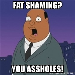 ollie williams - fat shaming? you assholes!