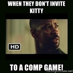 Alonzo Training Day - When they don't invite kitty to a comp game!