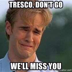 Crying Man - Tresco, don't go We'll miss you