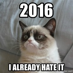 Grumpy Cat ={ - 2016 I already hate it