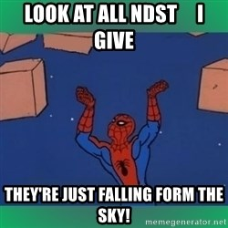 60's spiderman - look at all ndst     i give they're just falling form the sky!