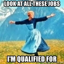 look at all these things - Look at all these jobs i'm qualified for