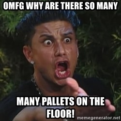 Flippinpauly - OMFG WHY ARE THERE SO MANY MANY PALLETS ON THE FLOOR!