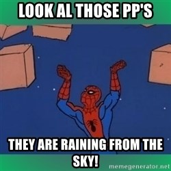 60's spiderman - Look al those pp's they are raining from the sky!