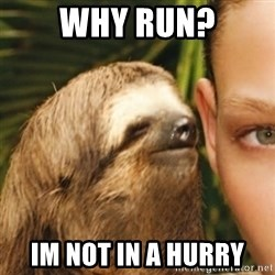 Whispering sloth - Why run? Im not in a hurry