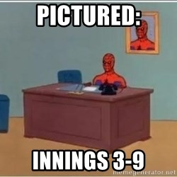 spiderman masterbating - Pictured: Innings 3-9