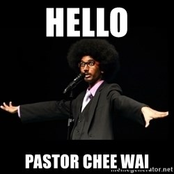 AFRO Knows - Hello Pastor Chee Wai