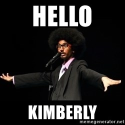 AFRO Knows - hello kimberly