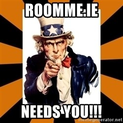 Uncle sam wants you! - RoomMe.ie Needs You!!!