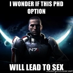 Mass Effect - I wonder if this PhD option will lead to sex