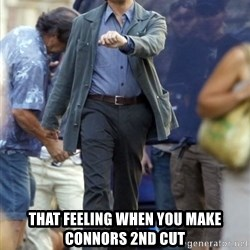 Happy Leonoard Dicaprio -  That feeling when you make Connors 2nd cut