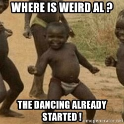 Little Black Kid - Where is Weird Al ? the dancing already started !