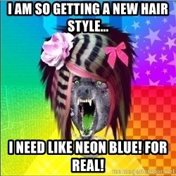 Scene Wolf - I am so getting a new hair style... I need like neon blue! For Real!