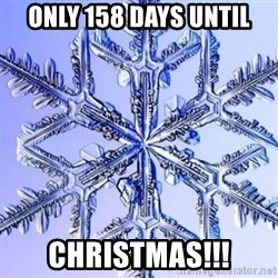 Special Snowflake meme - only 158 days until Christmas!!!