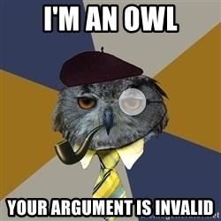 Art Professor Owl - I'm An Owl Your Argument is invalid