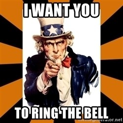Uncle sam wants you! - I want you to ring the bell