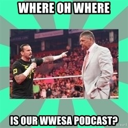 CM Punk Apologize! - WHERE OH WHERE IS OUR WWESA PODCAST?