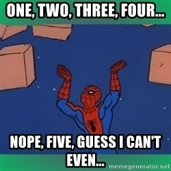 60's spiderman - one, two, three, four... nope, five, guess I can't even...