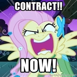 angry-fluttershy - CONTRACT!! NOW!