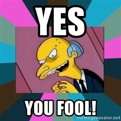 Mr. Burns - Yes you fool!