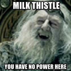 you have no power here -  Milk Thistle You have no power here