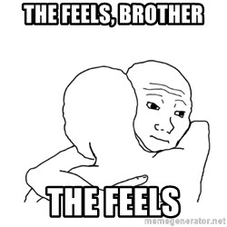 I know that feel bro blank - The feels, brother the feels