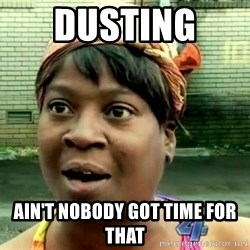 oh lord jesus it's a fire! - Dusting  Ain't nobody got time for that