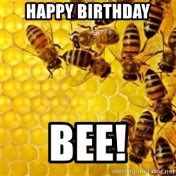 Honeybees - Happy Birthday Bee!