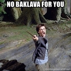 Pissed off Harry - NO BAKLAVA FOR YOU