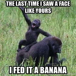 Happy Gorilla - The last time I saw a face like yours I fed it a banana