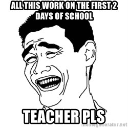 Yaomingpokefarm - all this work on the first 2 days of school teacher pls