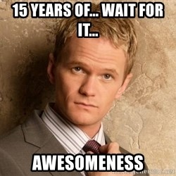 BARNEYxSTINSON - 15 years of... wait for it... awesomeness