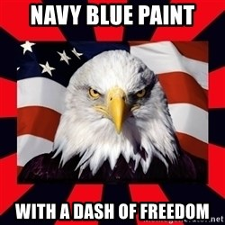 Bald Eagle - Navy Blue Paint with a dash of freedom