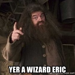 Hagrid -  Yer a wizard Eric