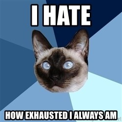 Chronic Illness Cat - I hate how exhausted I always am
