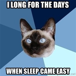 Chronic Illness Cat - i long for the days when sleep came easy
