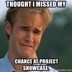 Crying Man - THOUGHT I MISSED MY  CHANCE AT PROJECT SHOWCASE.