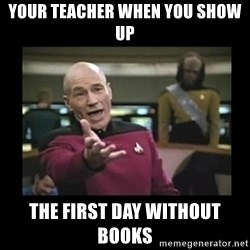 Patrick Stewart 101 - Your teacher when you show up the first day without books