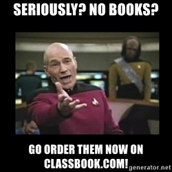 Patrick Stewart 101 - seriously? no books? go order them now on classbook.com!