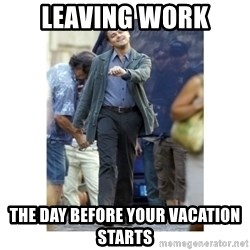 Leonardo DiCaprio Walking - Leaving work  the day before your vacation starts