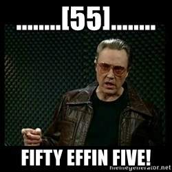 Christopher Walken Cowbell - ........[55]........ Fifty Effin Five!