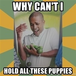 Why can't I hold all these limes - why can't i  hold all these puppies