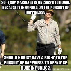 Fuck It Bill Murray - So if gay marriage is unconstitutional because it infringes on the pursuit of happinesss Should Nudist have a right to the pursuit of happiness to openly be nude in public?