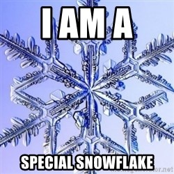 Special Snowflake meme - I am a  Special Snowflake