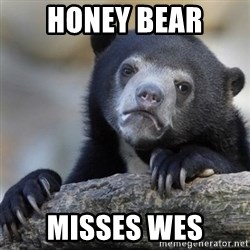 Confessions Bear - Honey Bear misses Wes