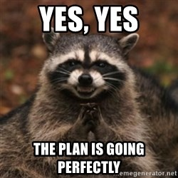 evil raccoon - Yes, Yes The plan is going perfectly